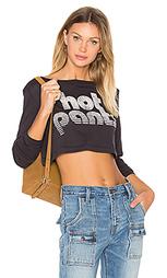 Укороченная футболка с длинным рукавом hot pant - Clayton
