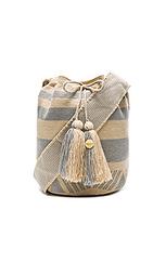 Полосатая большая сумка-мешок - Guanabana