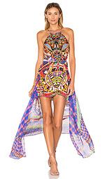 Платье с прозрачным оверлеем - Camilla