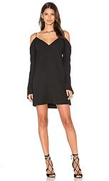 Мини платье с открытыми плечами cold shoulder - C/MEO