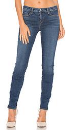 Узкие джинсы средней посадки с молниями chanelle - LAGENCE