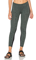 Sport cropped mesh panel legging - Lanston
