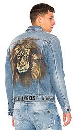 Джинсовая куртка lion - Palm Angels