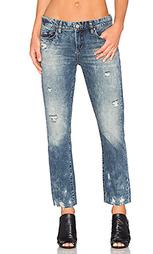 Состаренные укороченные прямые джинсы - BLANKNYC