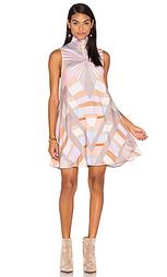 Платье с высокой шеей и юбкой-солнцеклёш prism - Mara Hoffman