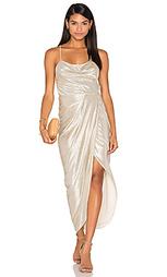 Макси платье с широким вырезом на шнуровке esmeralda - Shona Joy