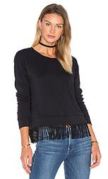 Пуловер из футера с отделкой бахромой - Splendid