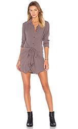 Платье из вискозы и вуали с завязкой спереди - Splendid