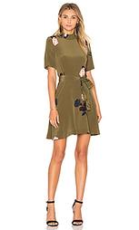 Шелковое мини платье donaldson - Ganni