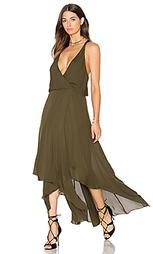 Кожаное макси платье с запахом godets - Haute Hippie