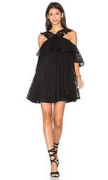 Кружевное мини платье с открытыми плечами - Cynthia Rowley