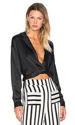 Блуза с запахом и глубоким вырезом - KENDALL + KYLIE