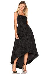 Жаккардовое вечерние платье с асимметричным подолом - Cynthia Rowley
