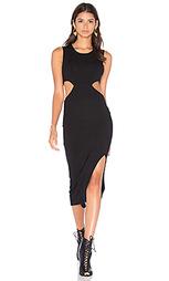 Платье из ткани в рубчик с вырезами - LNA