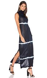 Макси платье без рукавов с высоким воротом - EGREY