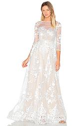 Прозрачное вечернее платье с вышивкой - Lurelly