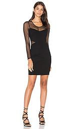 Облегающее двойной вязки мини платье с длинным рукавом - Bobi