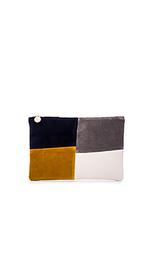 Плоский клатч patchwork grid - Clare V.