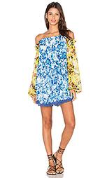 Платье со сборками romantic florals - ROCOCO SAND