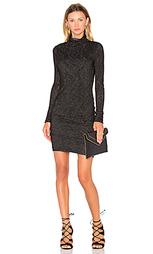 Мини платье с длинным рукавом и высоким воротом dacey - Velvet by Graham & Spencer