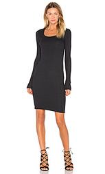 Платье с широким вырезом и длинным рукавом - ATM Anthony Thomas Melillo