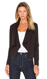 Вязаная драпированная куртка с оборкой и длинным рукавом - Bobi