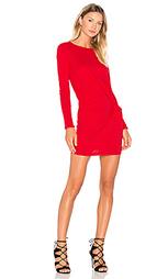 Мини платье из первоклассной джерси с длинным рукавом и узлом - Bobi