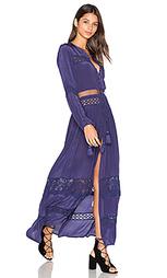 Макси платье из кружева с вырезами - Tessora
