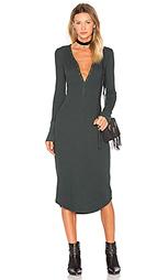Платье с застёжкой на пуговицы evie - three dots