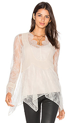 Chiffon pleats lace blouse - Haute Hippie
