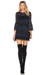 Кружевное мини платье в полоску - Cynthia Rowley
