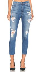 Прямые джинсы высокой посадки на болтах riley - Level 99