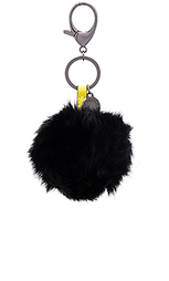 Брелок для ключей с помпонами из меха кролика - Rebecca Minkoff