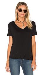 Рваная футболка с v-образным вырезом - MONROW