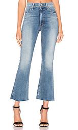 Укороченные джинсы-клеш hustler fray - MOTHER