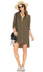 Платье на пуговицах с карманами и закаткой на рукавах - Bella Dahl