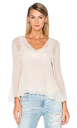 Long sleeve lace pleat top - The Kooples
