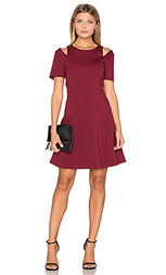 Cut out shoulder fit & flare dress - 1. STATE