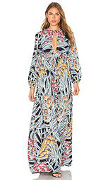 Макси платье с вырезом-капля herbarium - Mara Hoffman