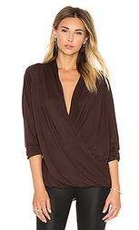 Criss cross wrap tee - David Lerner