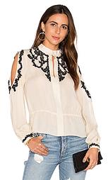 Блуза с кружевной аппликацией и открытыми плечами - Haute Hippie