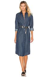 Платье из шамбре на пуговицах - BLQ BASIQ