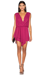 Мини платье с асимметричным запахом - krisa
