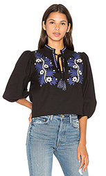 Two tone floral top - SUNO