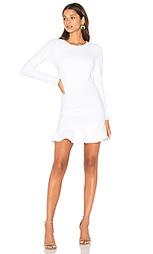 Платье с длинным рукавом и рюшами - Donna Mizani