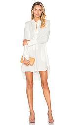 Платье-рубашка с асимметричным подолом - Halston Heritage