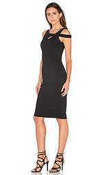 Миди платье с открытыми плечами - Donna Mizani