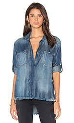 Рубашка на пуговицах с потрепанным подолом и разрезом сзади - Bella Dahl
