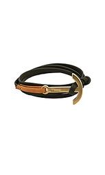 Кожаный браслет с покрытием матового золота anchor - Miansai