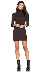 Платье из кашемира с длинным рукавом и высоким воротом - Enza Costa